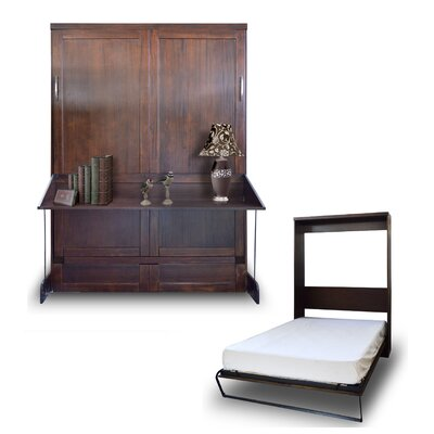 Delapaz Queen Murphy Bed Color: Chocolate