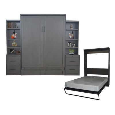 Delapaz Queen Storage Murphy Bed Color: Gray