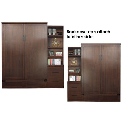 Delapaz Queen Storage Murphy Bed  Finish: Brown