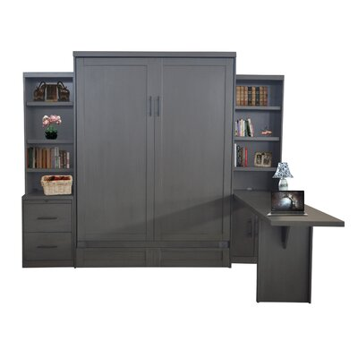 Delapaz Queen Storage Murphy Bed