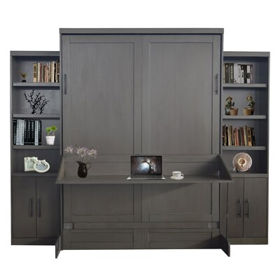 Delapaz Queen Murphy Bed Color: Metro Gray