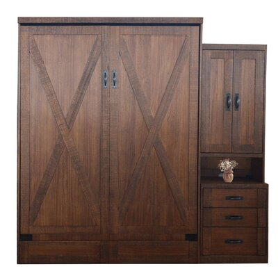 Lafountain Modern Queen Storage Murphy Bed