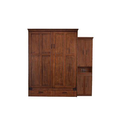 Merrionette Queen Murphy Bed with One Bookcase