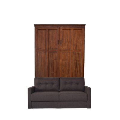 Dredge Queen Upholstered Murphy Bed Color: Cinnamon