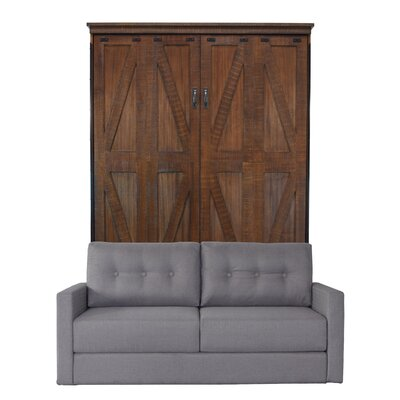 Kenilworth Queen Murphy Bed with Sofa Upholstery: Heather Tweed