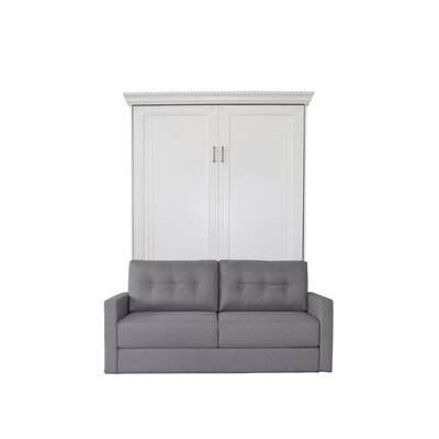 Cedarville Upholstered Murphy Bed with Sofa Color: Antique White/Gray