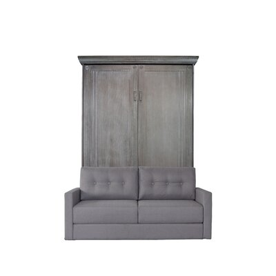 Cedarville Upholstered Murphy Bed with Sofa Color: Charcoal Wash/Gray