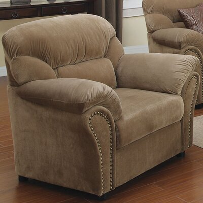 Velvet Armchair Upholstery: Light Brown