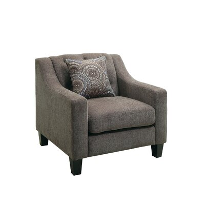 Manson Tufted Fabric Arm Chair