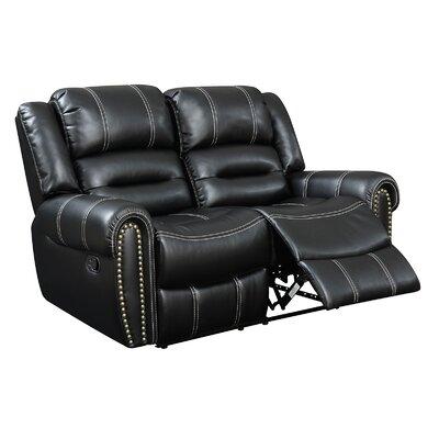 CM6130-LV AJHS1025 A&J Homes Studio Nailhead Leather Reclining Loveseat