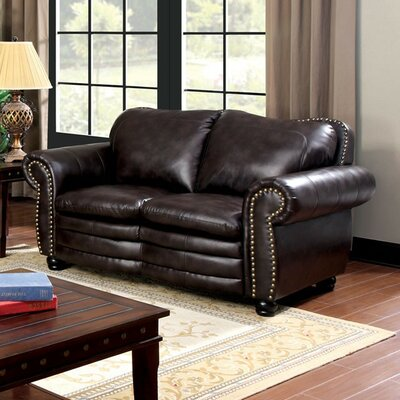 CM6311-LV AJHS1028 A&J Homes Studio Nailhead Leather Loveseat