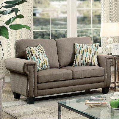 CM6285GY-LV AJHS1030 A&J Homes Studio Fabric Nailhead Loveseat