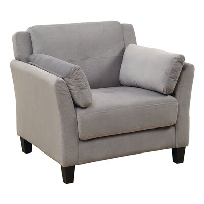 Fabric Armchair Upholstery: Gray