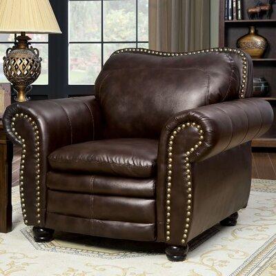 Zuri Nailhead Leather Club Chair