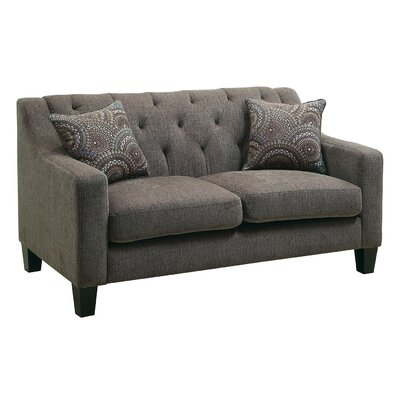 CM6096-LV AJHS1026 A&J Homes Studio Fabric Tufted Loveseat