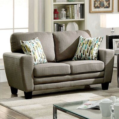 CM6286GY-LV AJHS1032 A&J Homes Studio Plush Cushion Fabric Upholstered Loveseat Finish