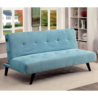 Tufted Flannelette Sleeper Sofa Upholstery Color: Blue