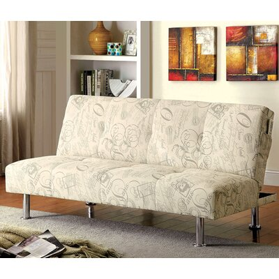 CM2678 AJHS1035 A&J Homes Studio World Traveler Pattern Fabric Convertible Sofa