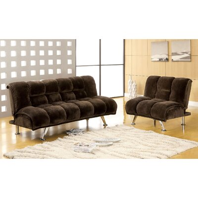 Littlefield 2 Piece Living Room Set Upholstery: Dark Brown