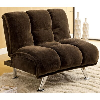 Lauren Tufted Convertible Chair Color: Dark Brown