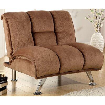Lauren Tufted Convertible Chair Color: Mocha