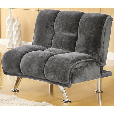 Lauren Tufted Convertible Chair Upholstery: Gray