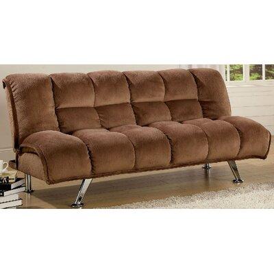Lauren Tufted Futon Sleeper Sofa Upholstery: Mocha