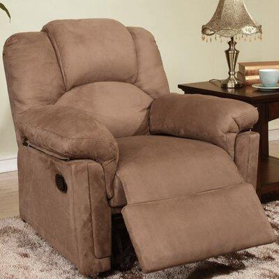Jori Manual Rocker Recliner Upholstery: Brown