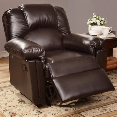 Jori Manual Rocker Recliner Upholstery: Dark Brown