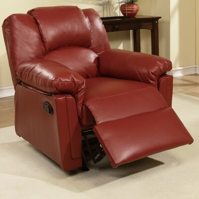 Jori Manual Rocker Recliner Upholstery: Red