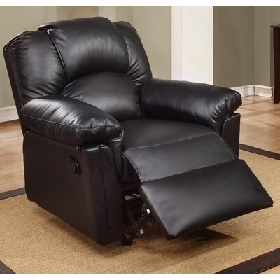 Jori Manual Rocker Recliner Upholstery: Black
