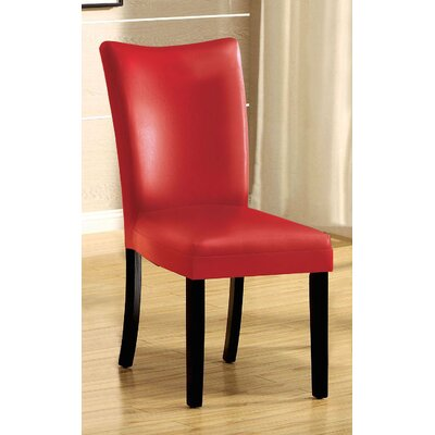 Lari Side Chair Upholstery: Red