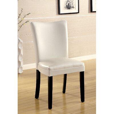 Lari Side Chair Upholstery: White