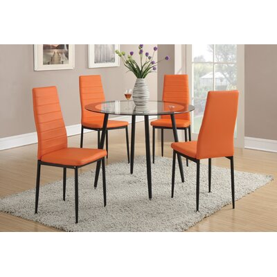 Revere Side Chair Finish: Orange