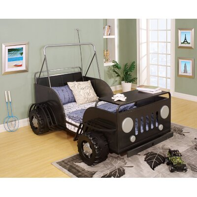 Oscar Toddle Car Bed Color: Black