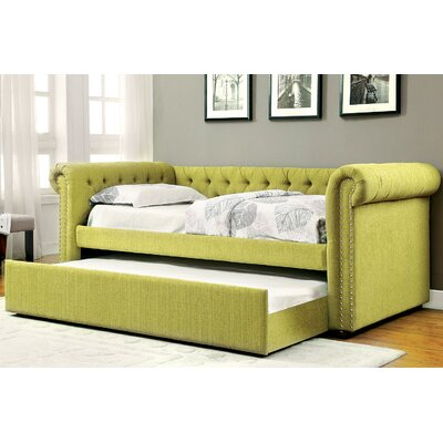 Leona Daybed with Trundle Color: Green