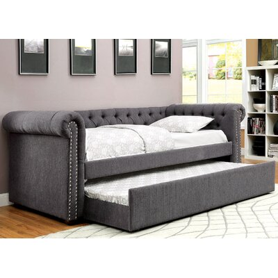 Leona Daybed with Trundle Color: Gray