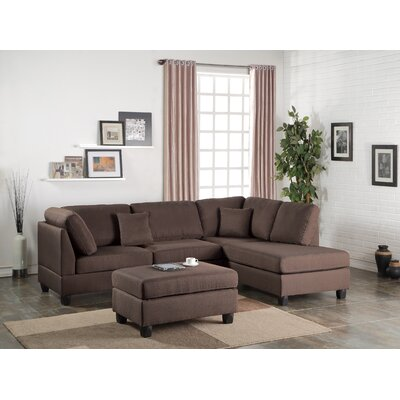 Lucas Sectional Upholstery: Chocolate