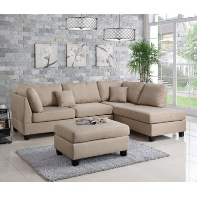 Lucas Sectional Upholstery: Sand