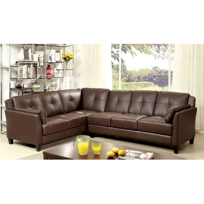 Vina Sectional Upholstery: Brown