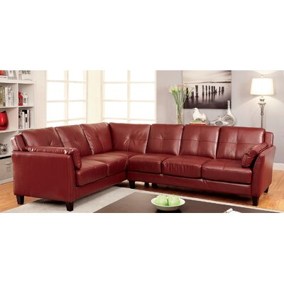 A&J Homes Studio 6WF8RED Vina Sectional Upholstery