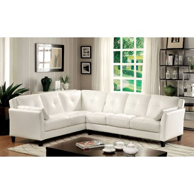 Vina Sectional Upholstery: White