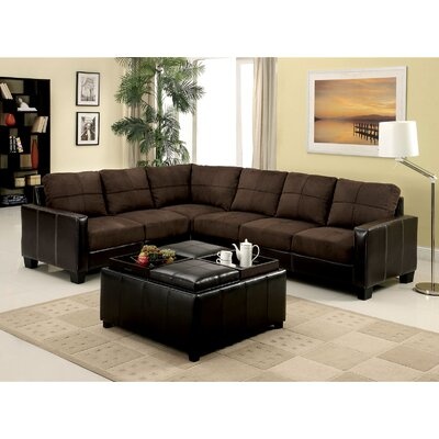 Lena Sectional Upholstery: Chocolate