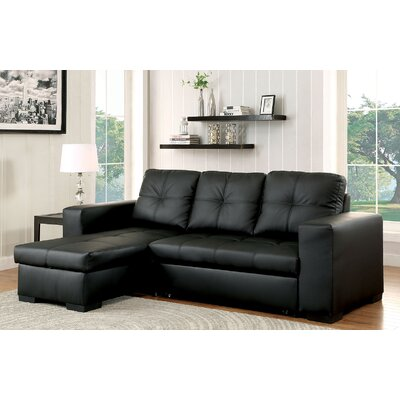 Sleeper Sectional Upholstery: Black