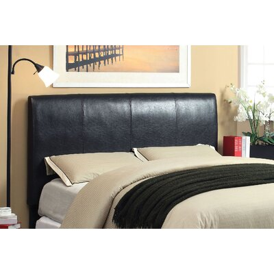 Cecilia Upholstered Panel Headboard Upholstery: Espresso, Size: Twin