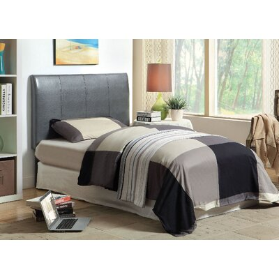 Cecilia Twin Upholstered Headboard Upholstery: Gray