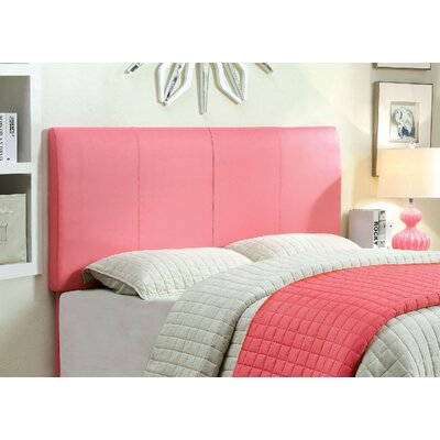 Cecilia Upholstered Panel Headboard Size: Full/Queen, Upholstery: Pink