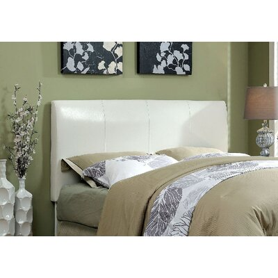Cecilia Upholstered Panel Headboard Upholstery: White, Size: Full/Queen