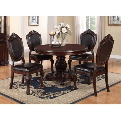 Della 5 Piece Dining Set Finish: Dark Brown