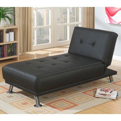 Joan Chaise Lounge Color: Black
